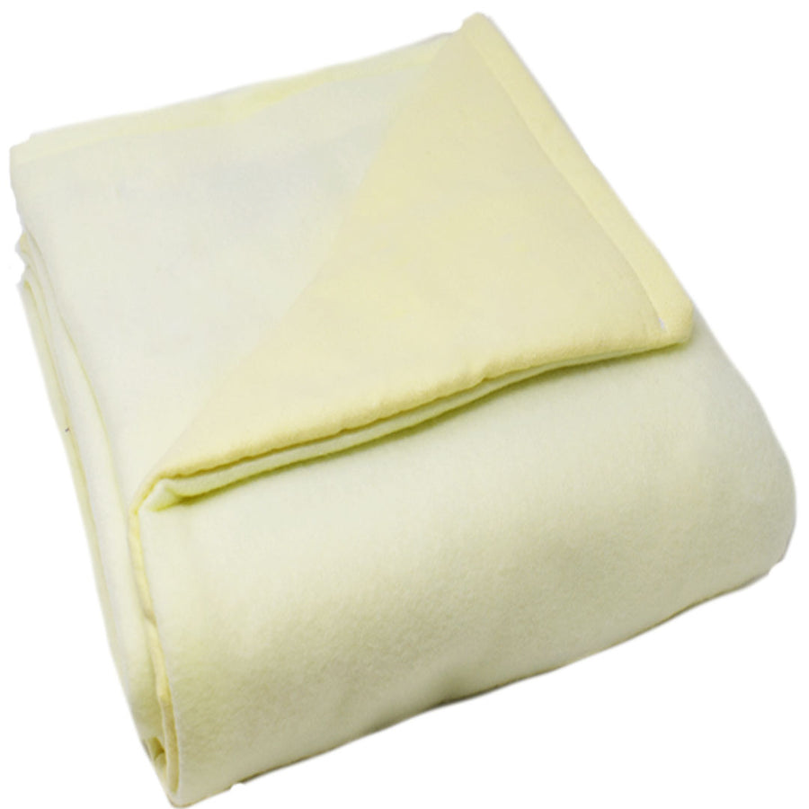 6LB Pale Yellow Fleece and Flannel