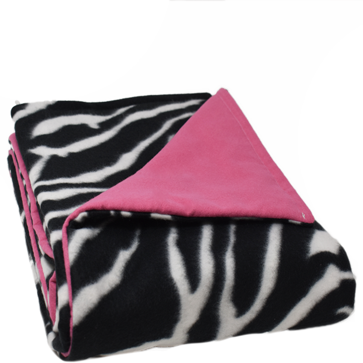 6LB Zebra-HotPink Fleece and Flannel