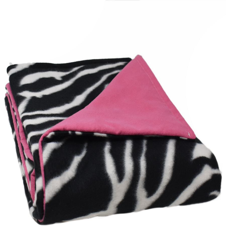 5LB Zebra-HotPink Fleece and Flannel