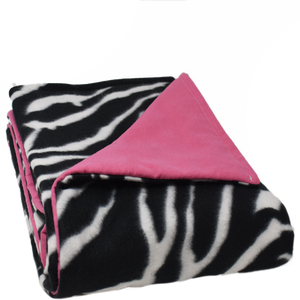 4LB Zebra-HotPink Fleece and Flannel
