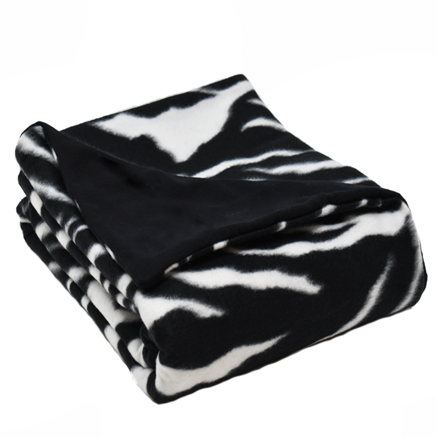 6LB Zebra-Black Fleece and Flannel
