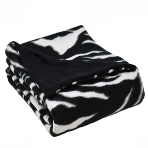 7LB Zebra-Black Fleece and Flannel