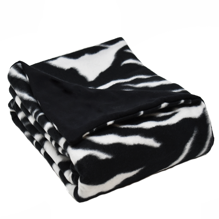 5LB Zebra-Black Fleece and Flannel