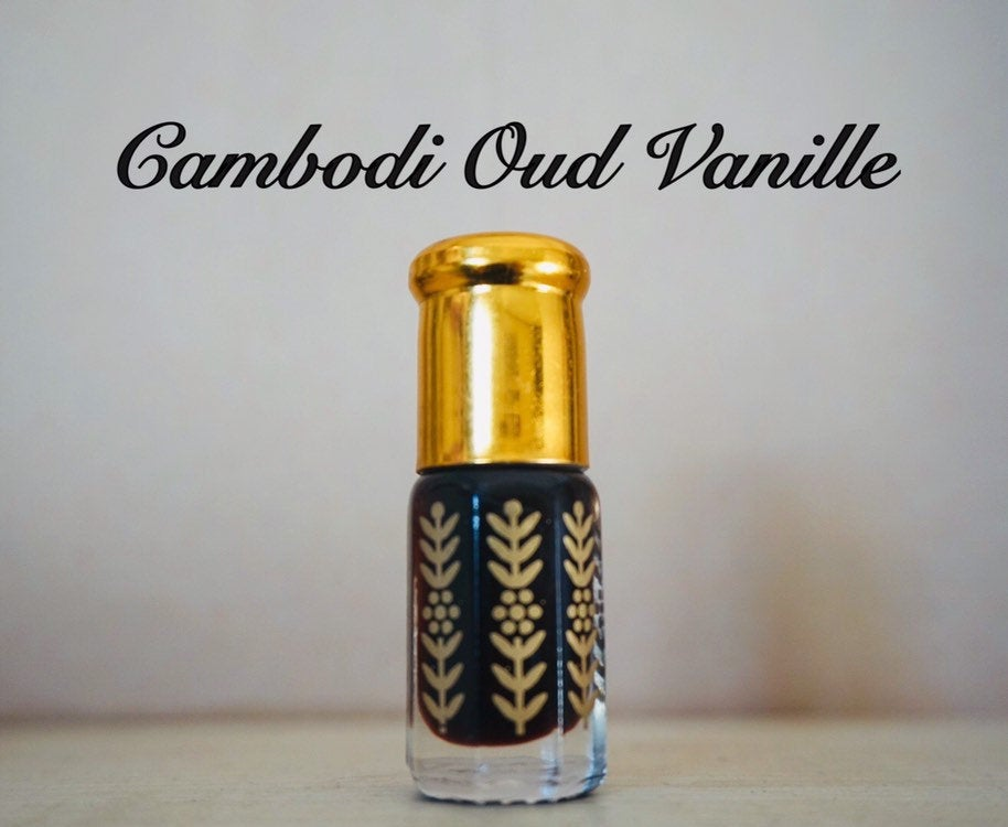 Cambodi Oud Vanille (vintage, fragrance, agarwood, oud, oudh, vanilla, oil mix, oriental natural unique attar, bestseller gift for him/her)