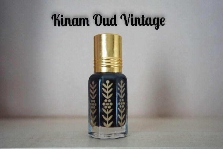 Kinam Vintage Oud Oil 3ml Last Bottle of old batch. (Kyara, royal, supreme grade RARE oud agarwood, perfume, oudh, oil, high quality)