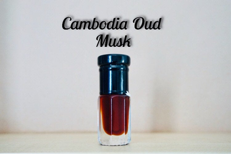 Cambodia Oud Musk Blend (fragrance, oil perfume, scent, Arabian scent, musk, agarwood oil)
