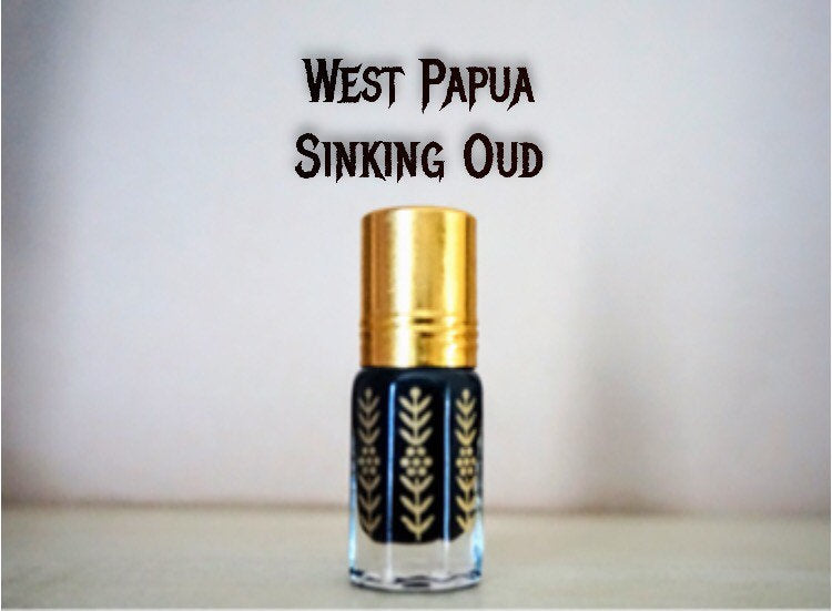 West Papua Sinking Oud| Fragrance Agarwood Essential Oil|Natural Oriental Scents|Small dip stick Bottle|Tranquilizing Aromatherapy