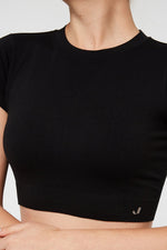 Jerf Captiva Black Crop Top