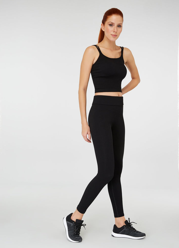 Jerf Darwin Double Strappy Crop Top Black