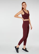 Jerf Darwin Wide Strap Crop Top Maroon