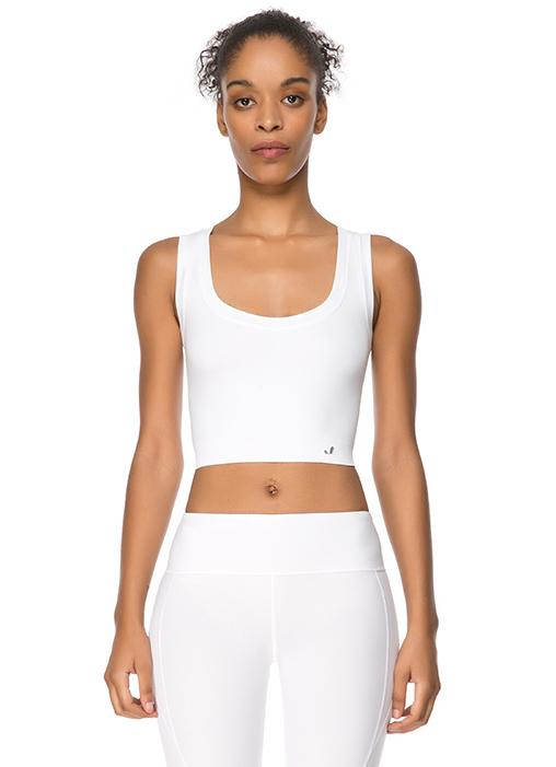 Jerf Linden White Crop Top