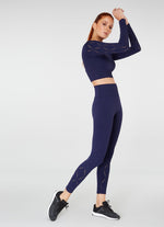 Jerf Naples  Long-Sleeved Crop Top Econyl Navy Blue