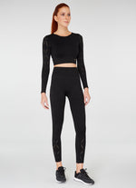 Jerf Naples  Long-Sleeved Crop Top Econyl Black