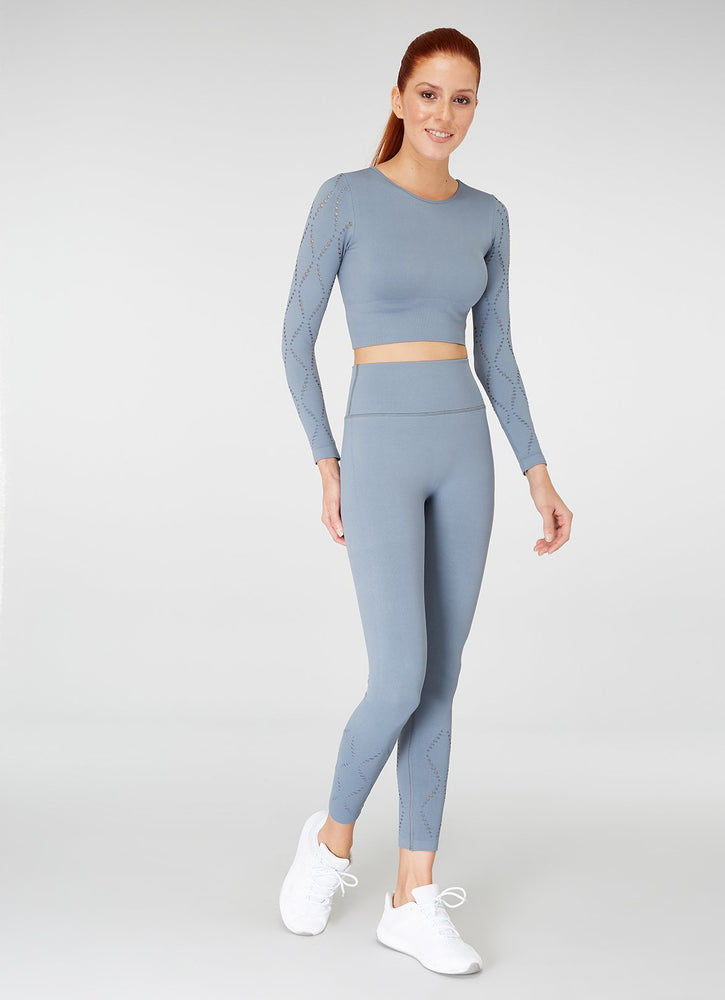 Jerf Naples  Long-Sleeved Crop Top Econyl Stone