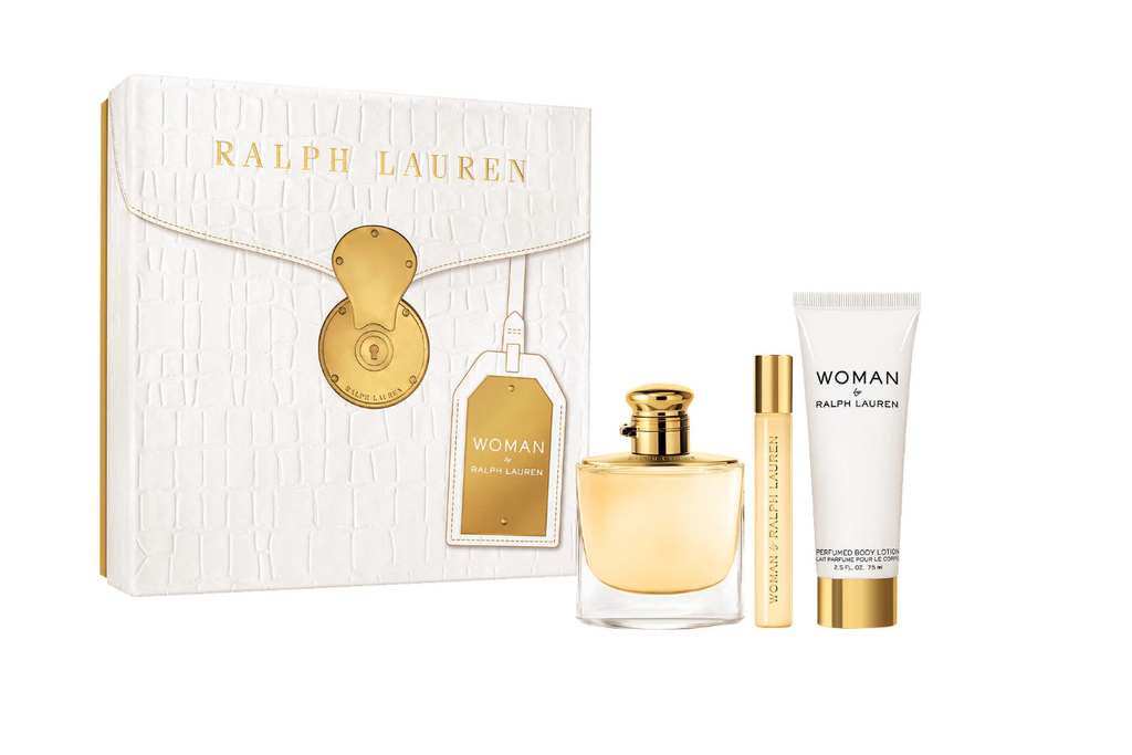 Ralph Lauren Woman By Ralph Lauren Gift Set 50ml EDP + 10ml EDP + 75ml Body Lotion