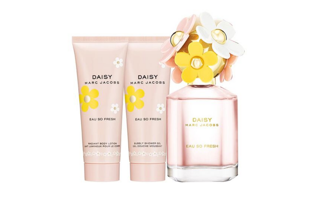 Marc Jacobs Daisy Eau So Fresh Gift Set 75ml EDT + 75ml Body Lotion + 75ml Shower Gel