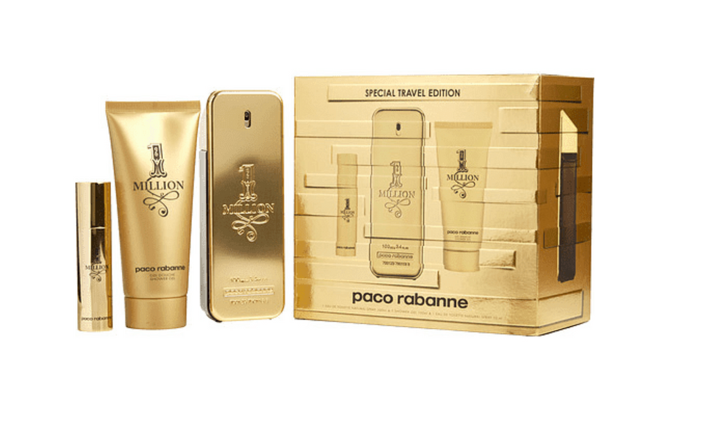 Paco Rabanne 1 Million Special Travel Edition Gift Set 100ml EDT + 10ml EDT Travel Spray + 100ml Shower Gel