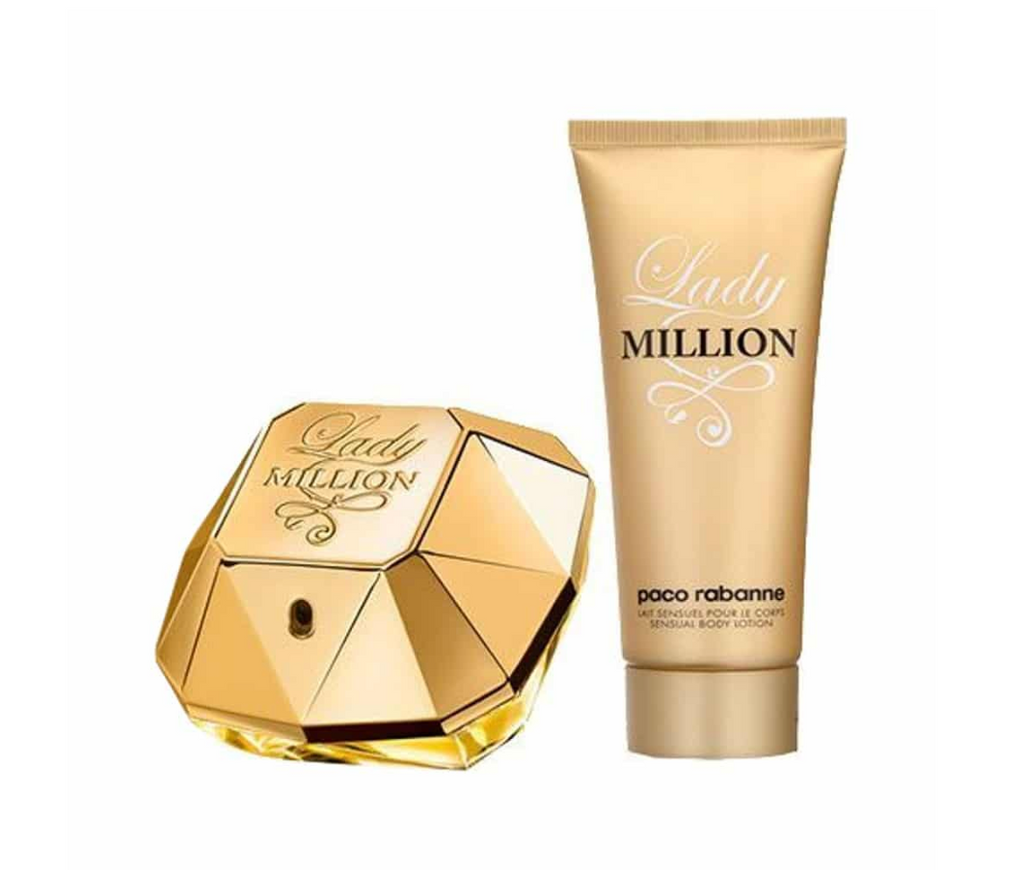 Paco Rabanne Lady Million Gift Set 80ml EDP + 100ml Body Lotion