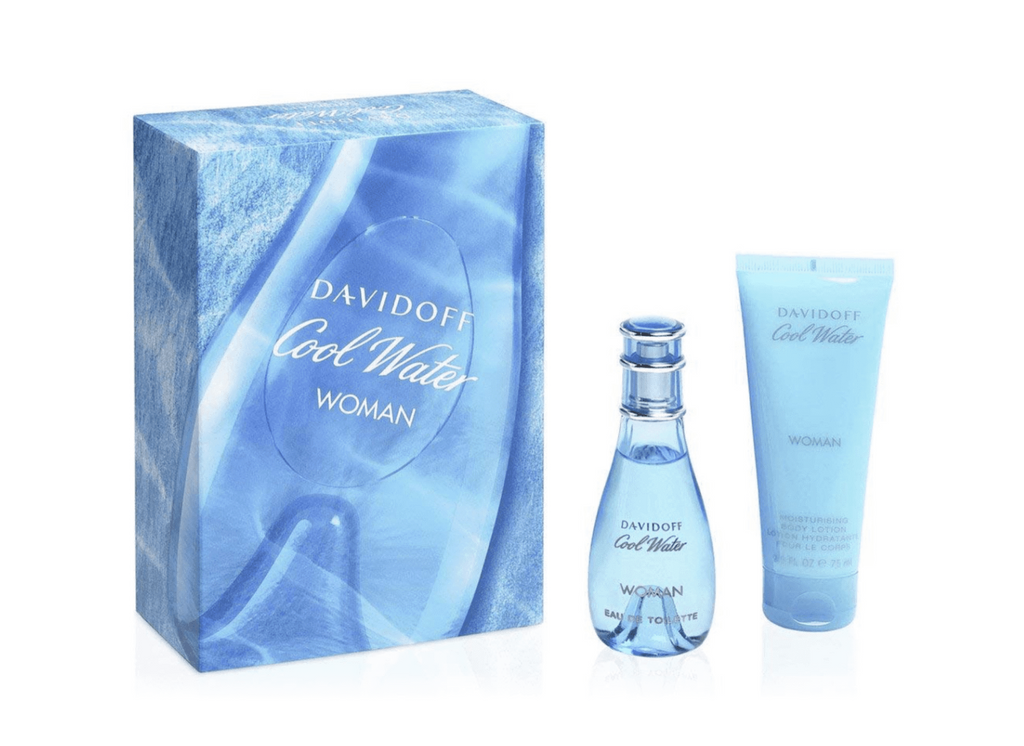 Davidoff Cool Water Woman Gift Set 30ml EDT + 75ml Body Lotion
