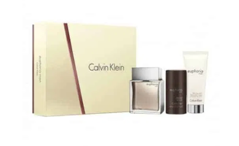 Calvin Klein Euphoria Gift Set 100ml EDT + 100ml Aftershave Balm + 75g Deo Stick