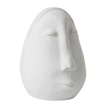 Load image into Gallery viewer, Large Ceramic Face - Matte White
