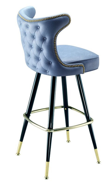 Button Tufted Bar Stools
