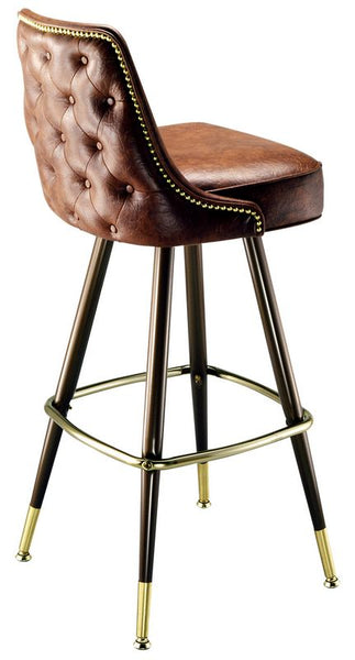 Bar Stools with Nail Head Trim