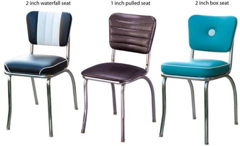 Diner Chair Seat Finishes