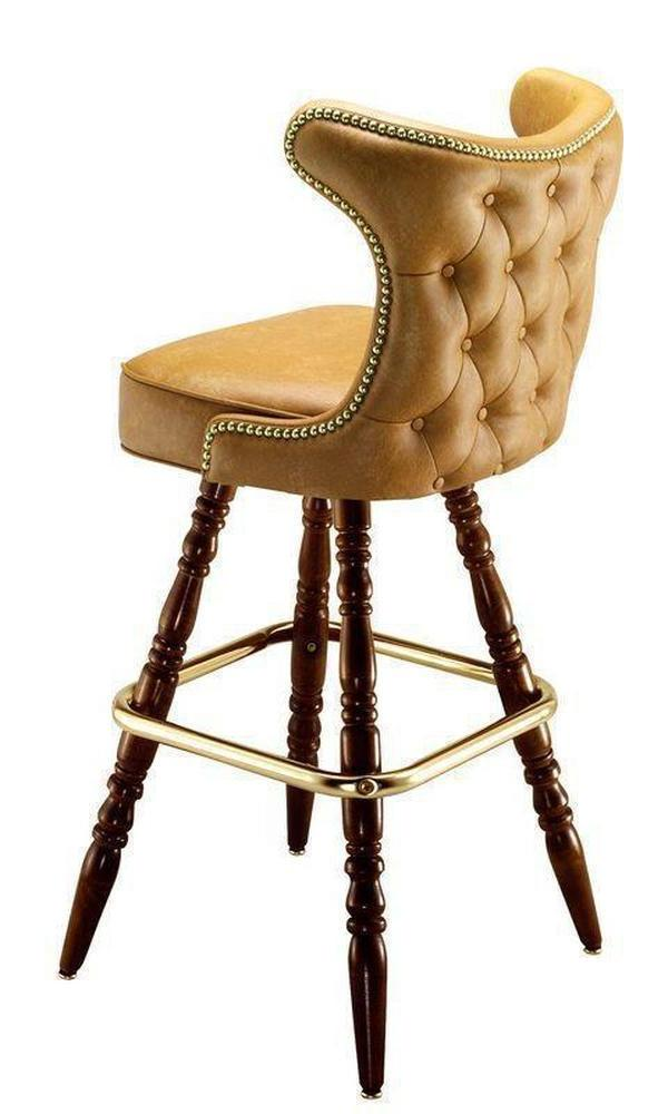Button Tufted Cowboy Bar Stool-Richardson Seating