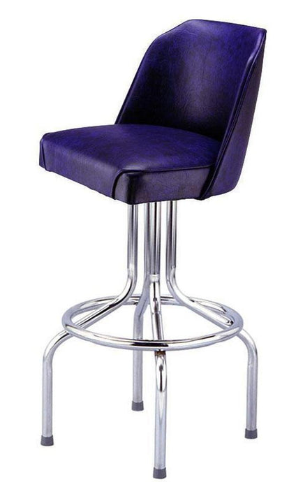 Chrome Bar Stool with Bucket Seat - 1620-Richardson Seating