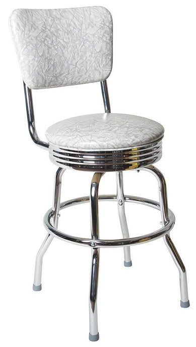 Chrome Diner Chair Back Bar Stool-Richardson Seating
