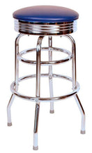 Load image into Gallery viewer, Chrome Double Ring Bar Stool - 1971-Richardson Seating