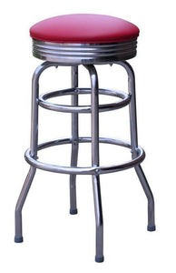 Chrome Double Ring Bar Stool - 1971-Richardson Seating