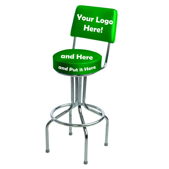 Custom Logo Bar Stool - 1657-Richardson Seating
