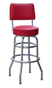 Double Ring Bar Stool with Back-Richardson Seating