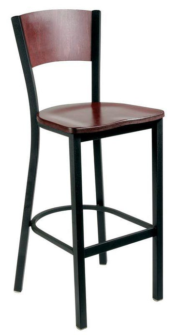 Metal Bar Stool with Wood Back-Richardson Seating