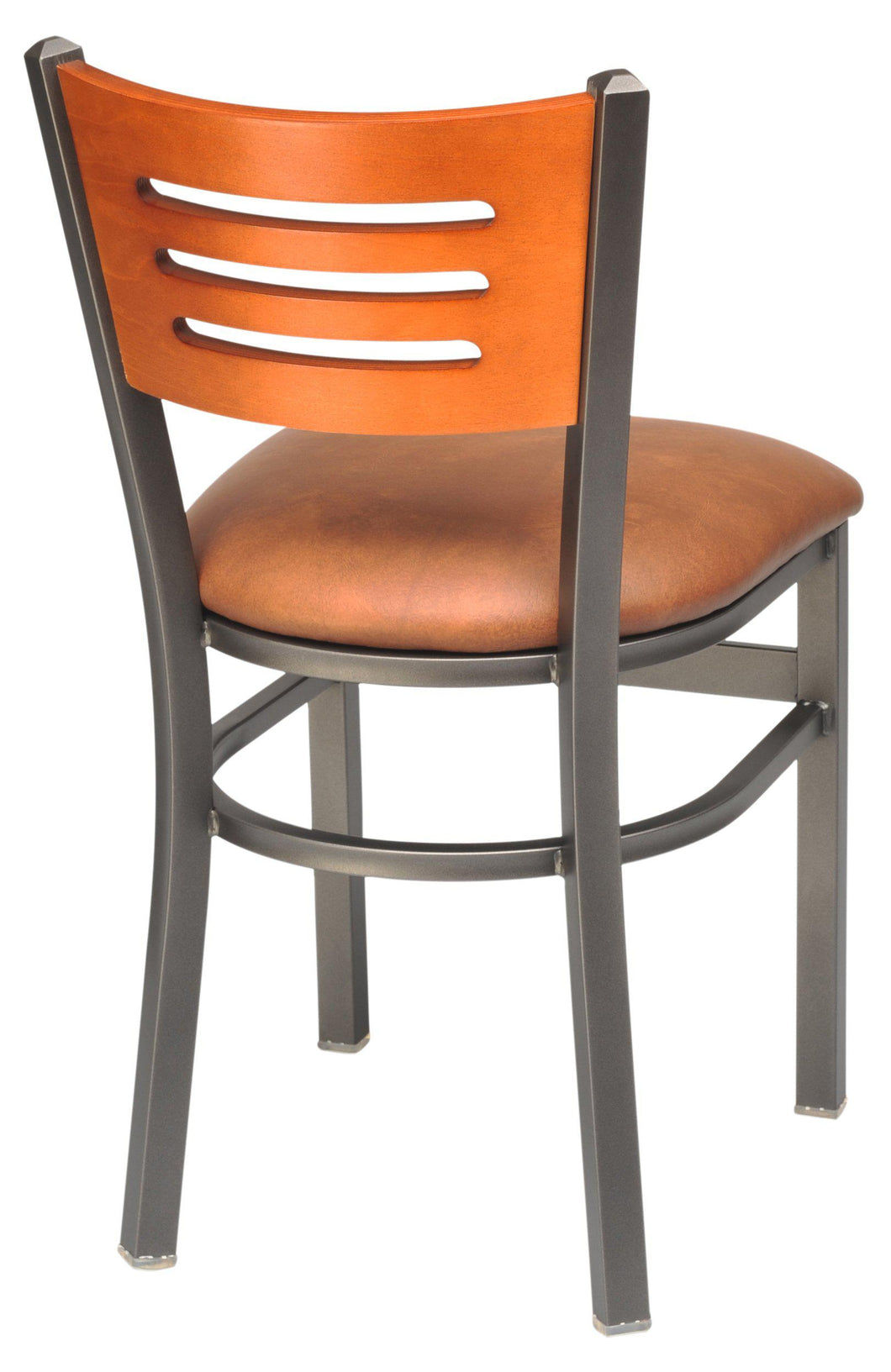 Metal Chair with Slots in Wood Back-Richardson Seating