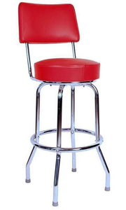 Single Ring Bar Stool with Back-Richardson Seating