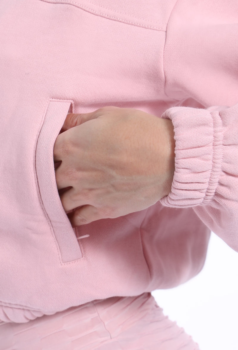 Cotton Candy Cropped Hoodie - Muscle Sisters