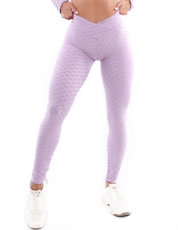 Lila Scrunch Bubble Legging - Muscle Sisters