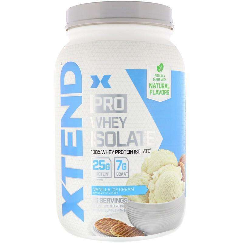 Xtend Pro Whey Isolate, Vanilla Ice Cream - 25 Servings 1.78 lb (810 g) - AM VITAMINS