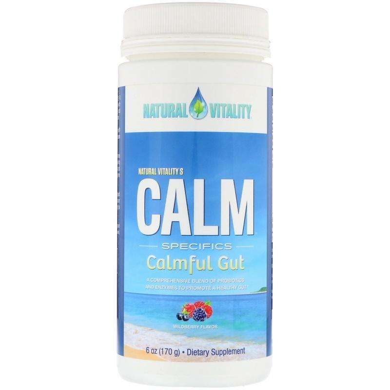 Natural Vitality - Calm Specifics, Calmful Gut, Wildberry Flavor - 6 oz (170 g) - AM VITAMINS