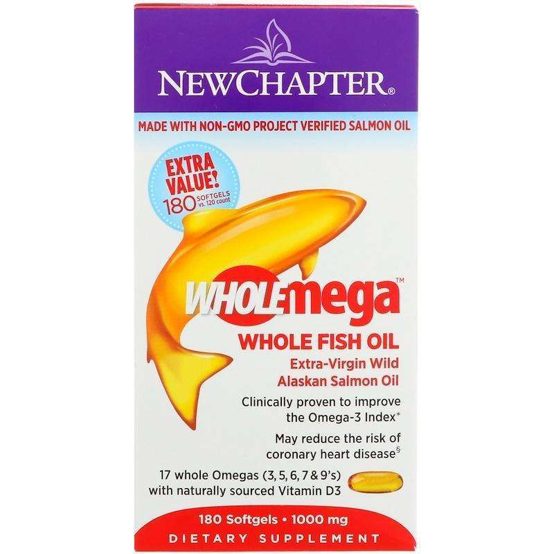 New Chapter - Wholemega™, Whole Fish Oil - 180 Softgels - AM VITAMINS