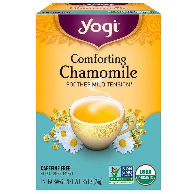 Yogi Tea - Comforting Chamomile, Caffeine Free - 16 Tea Bags, 0.85 oz (24 g) - AM VITAMINS