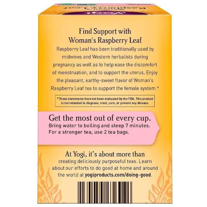 Yogi Tea - Woman's Raspberry Leaf, Caffeine Free - 16 Tea Bags, 1.02 oz (29 g) - AM VITAMINS