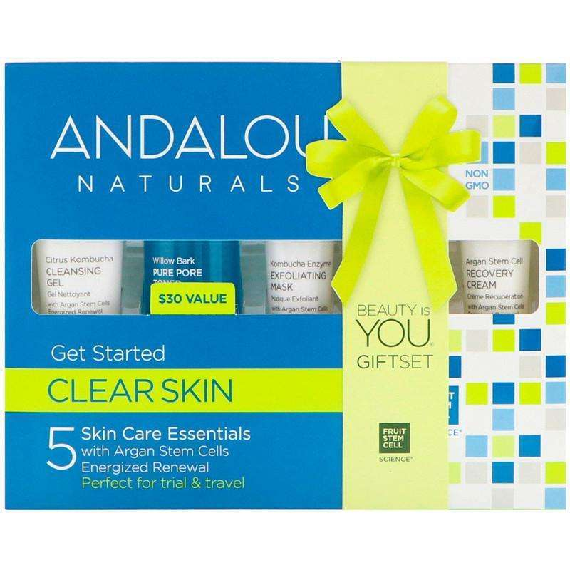 Andalou Naturals - Get Started Clarifying Skin Care Essentials, 5 Piece Kit - AM VITAMINS