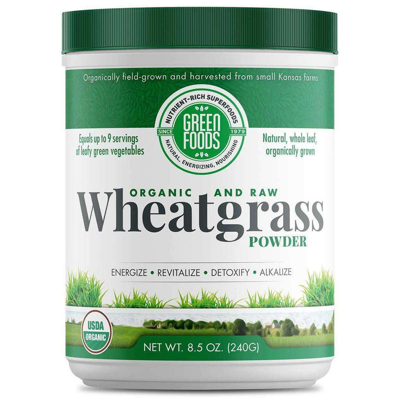 Green Food - Wheat Grass Whole Leaf - 8.5 Oz (240g) - AM VITAMINS
