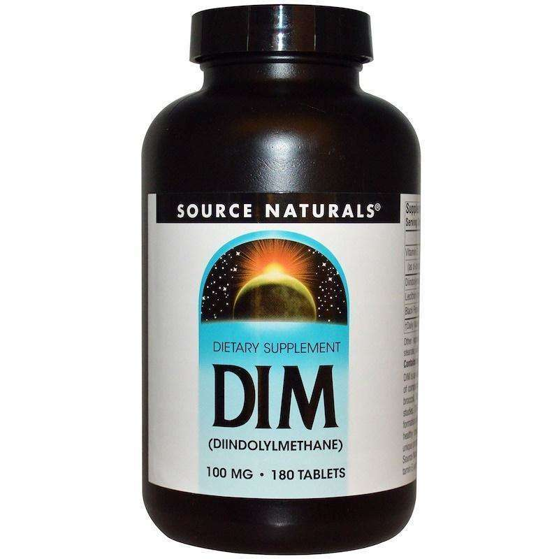 Source Naturals - DIM (Diindolylmethane) 100 Mg - 180 Tablet - AM VITAMINS