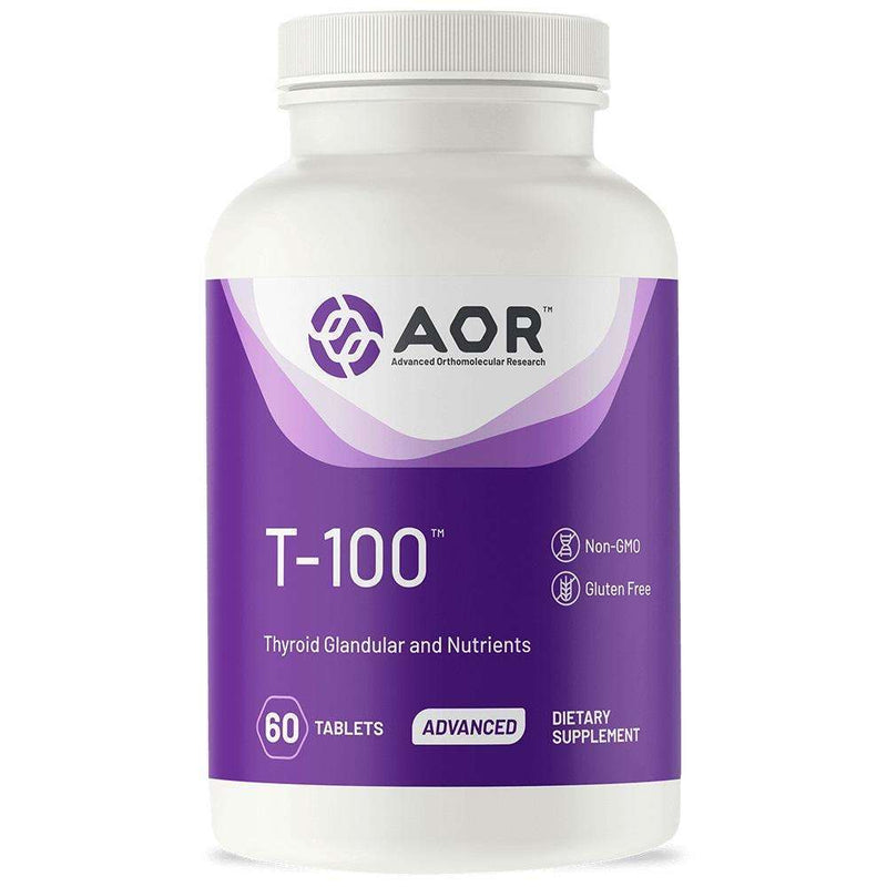 T-100 Thyroid Support - 60 Tablets - AOR - AM VITAMINS