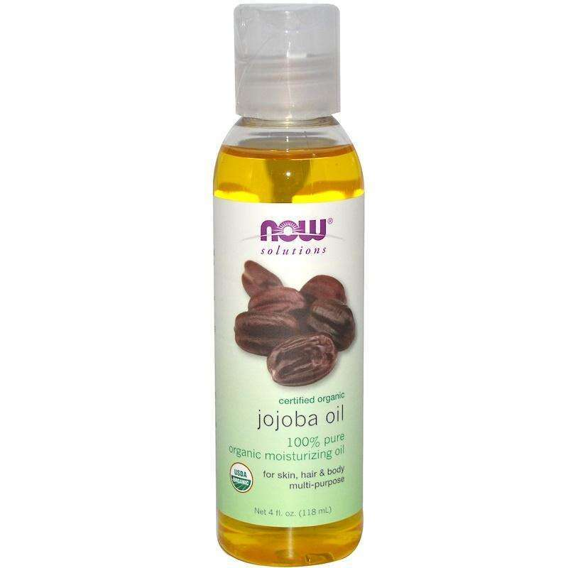 Now Foods -  Solutions, Certified Organic, Jojoba Oil - 4 fl oz (118 ml) - AM VITAMINS